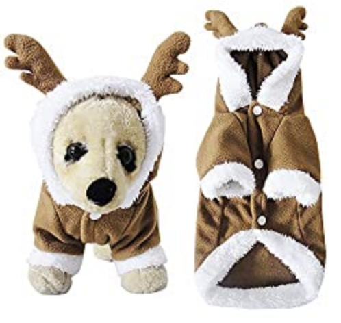 Filhome Puppy Dog Christmas Reindeer Costume